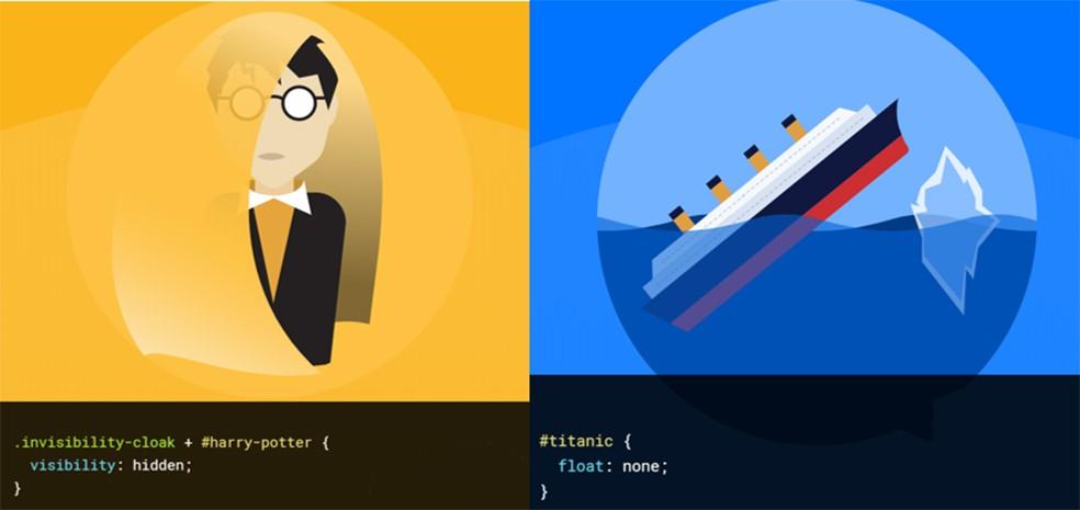 Exemples de détournement du langage CSS