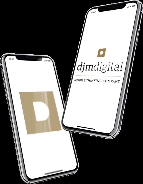 2 Iphone X aux couleurs de djm digital