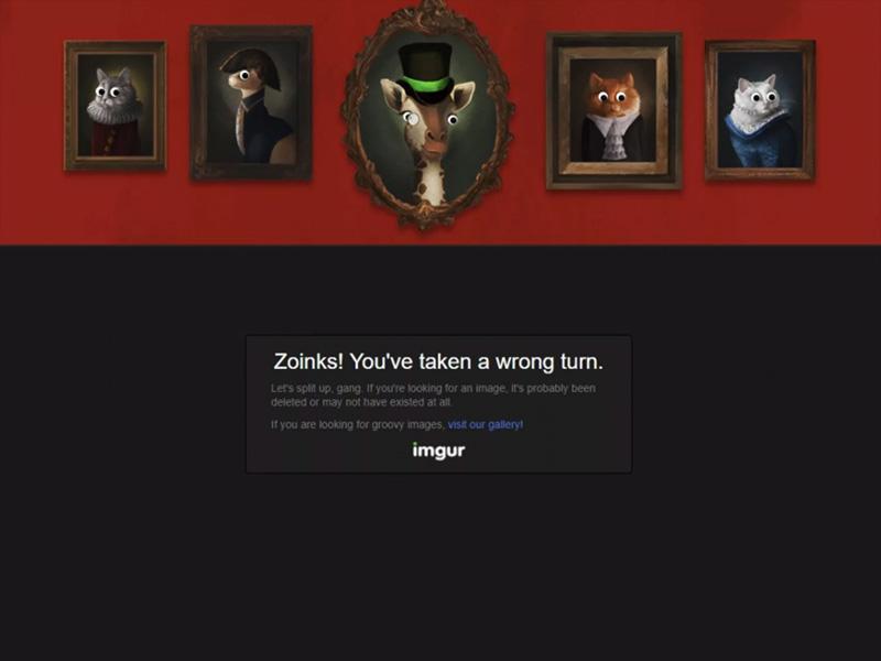 Exemple d'une page 404