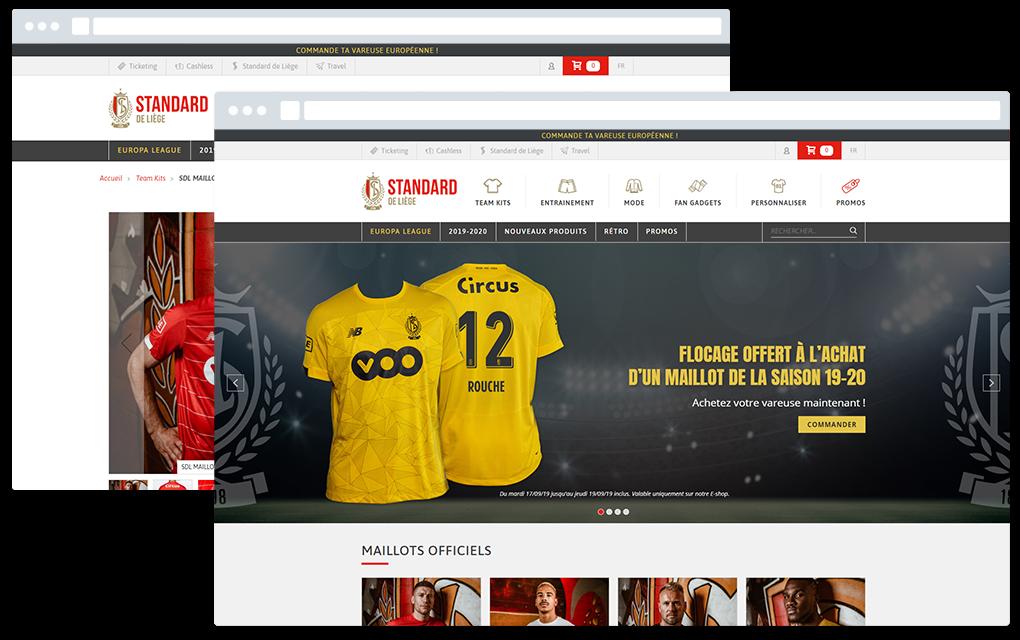 Site web du Standard Fanshop