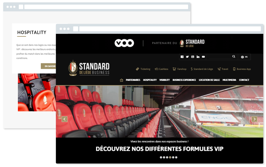 Site business du Standard de Liège