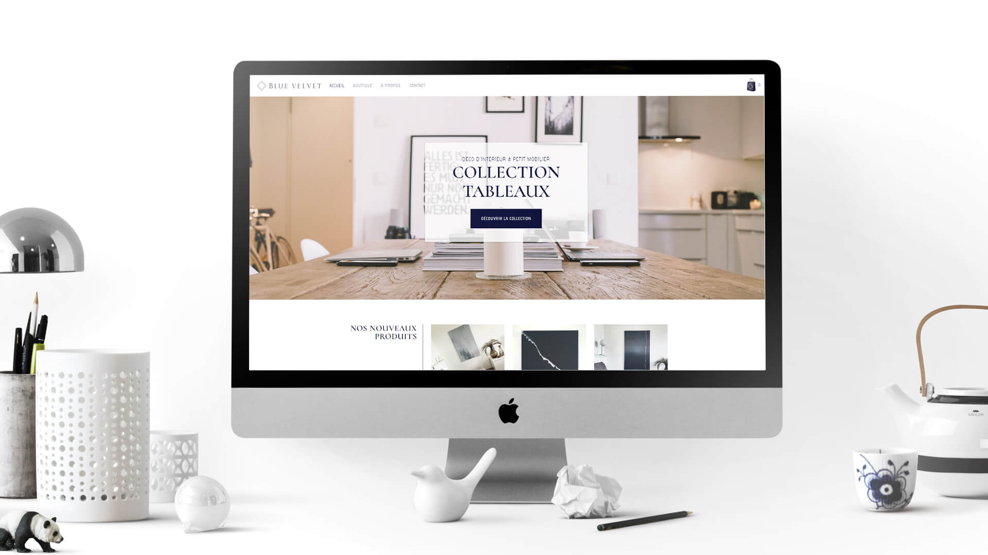 Site web Blue Velvet Home