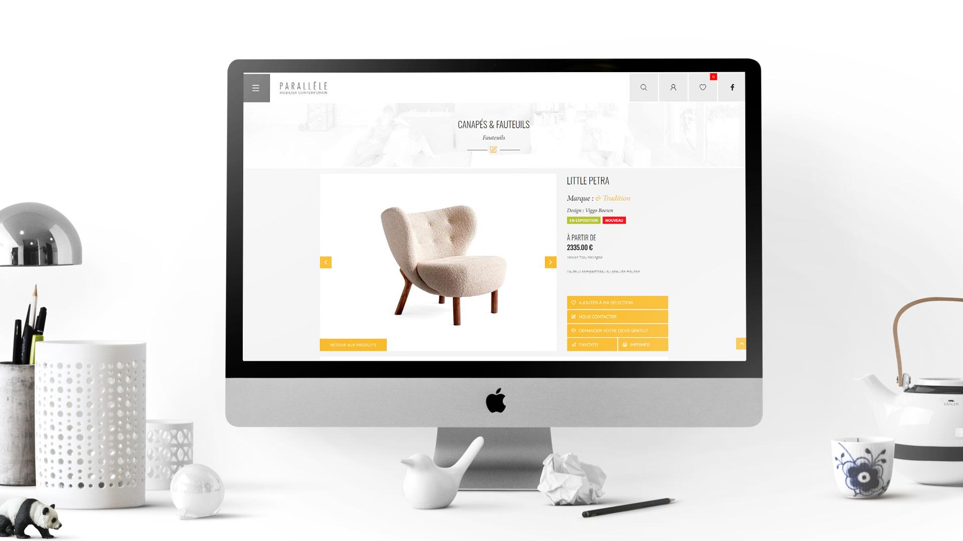 Parallèle Mobilier Contemporain website