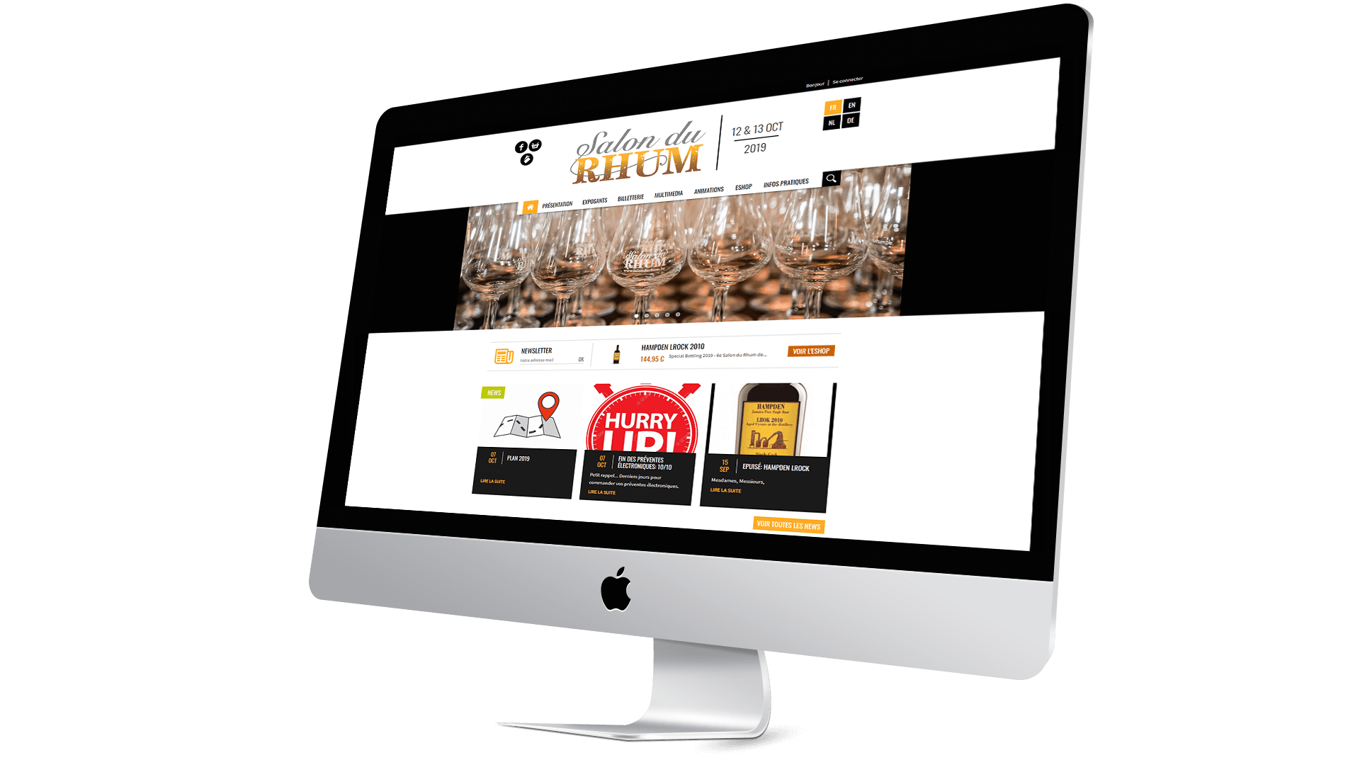 Site web Salon du Rhum
