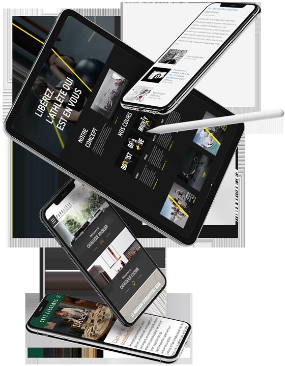 Projets de djm digital présentés dans des Ipad et Iphone