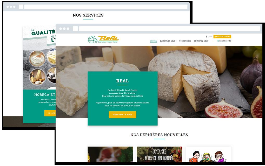 Real website
