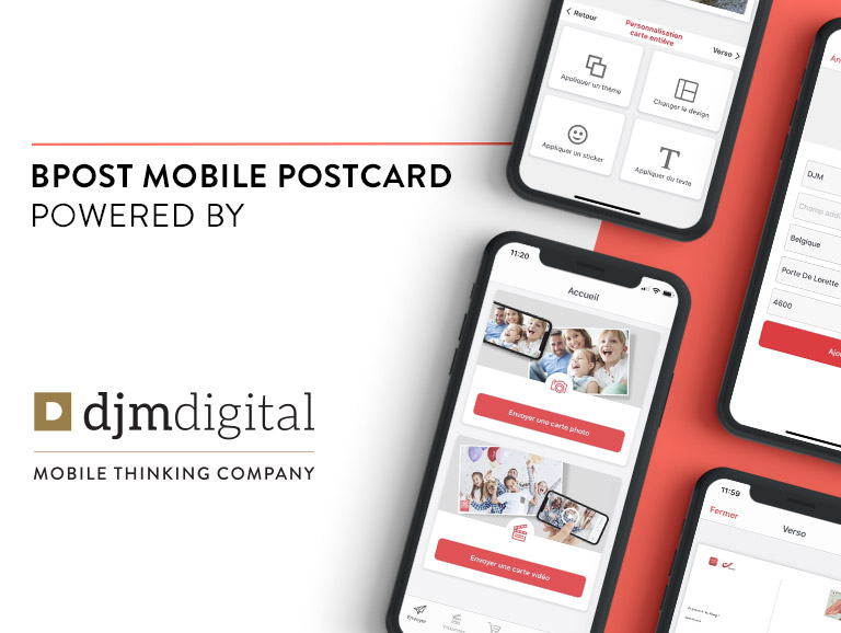 bpost mobile postcard by djm digital