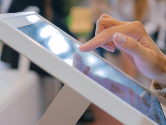 In store touch screen terminal